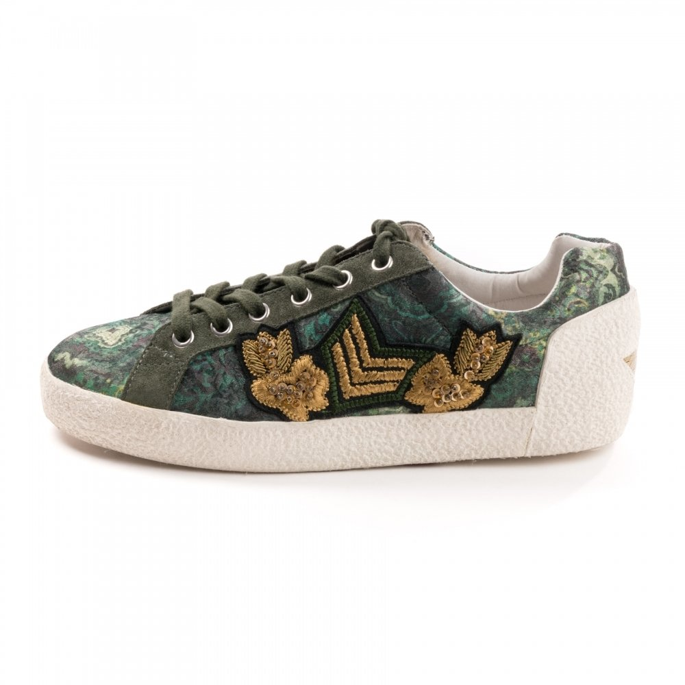 ASH Nakarms Damen Sneaker Grün Grau Military Grün Sneaker e29275