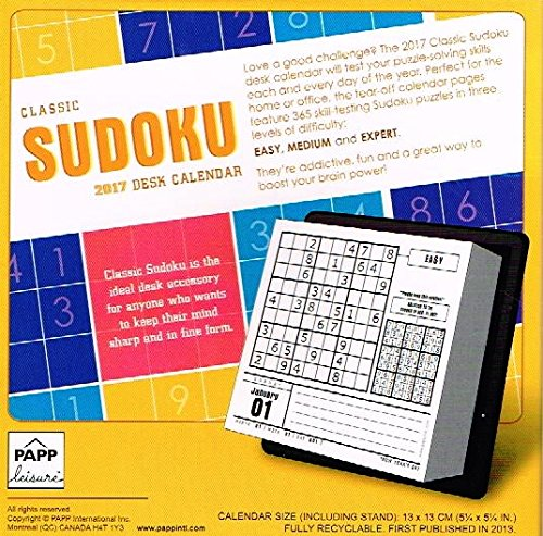 2017 Day To Day Classic Sudoku Year In A Box Boxed Desk