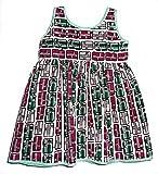 Baby Girls' sleeveless African print dress - 24 months (Light Green Bias Tape Lining)