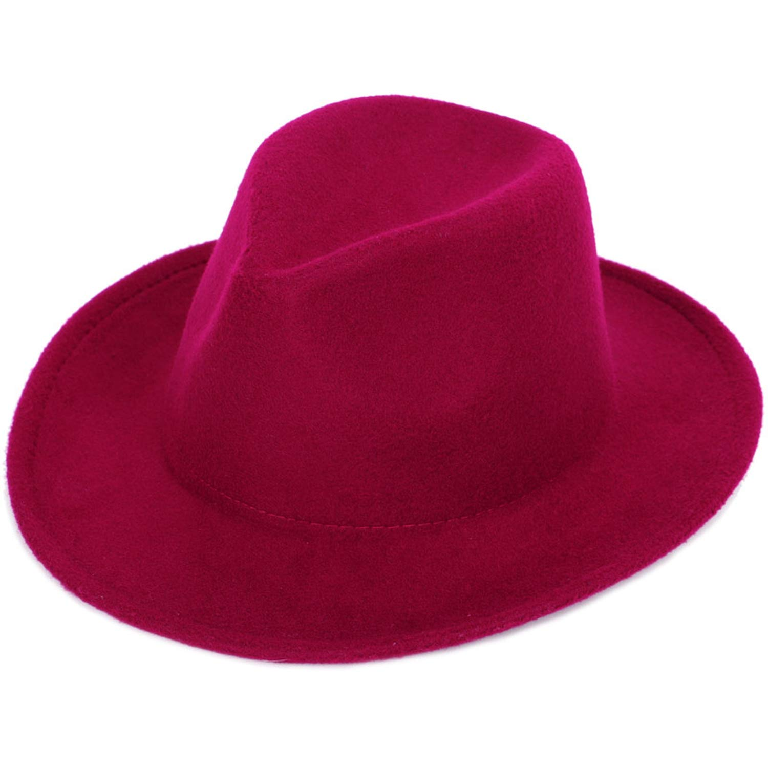 Retro Mens Faux Wool Fedora Solid Color Fashion Autumn and Hats Adjustable Man Woman Universal caps Classic