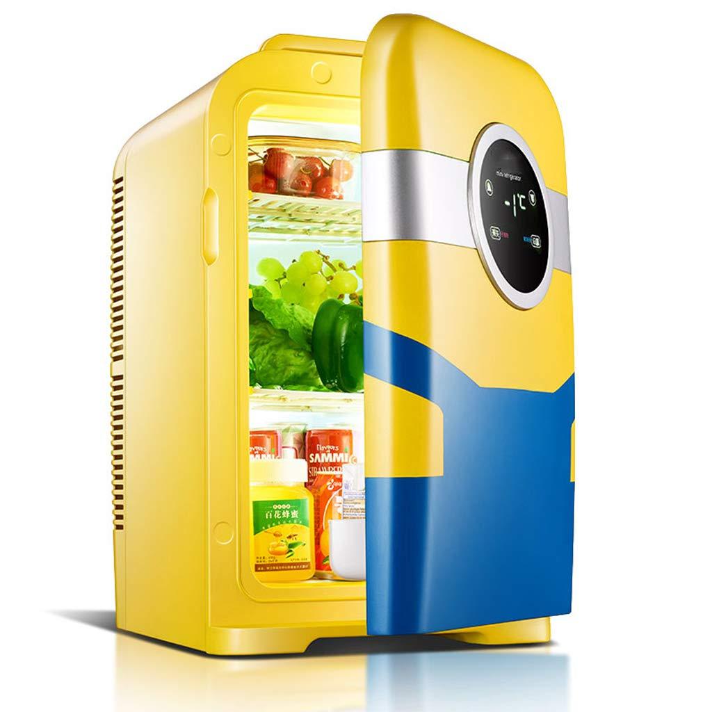 車の冷凍庫 22Lカーミニ冷蔵庫、スモールホームシングルドア冷蔵ミニチュア学生ドミトリー二人の世界 電子製品/家の装飾 (色 : イエロー いえろ゜)  イエロー いえろ゜ B07HNY7R39