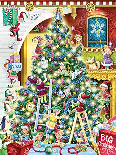 (Vermont Christmas Company Trimming The Tree Jigsaw Puzzle 550 Piece)