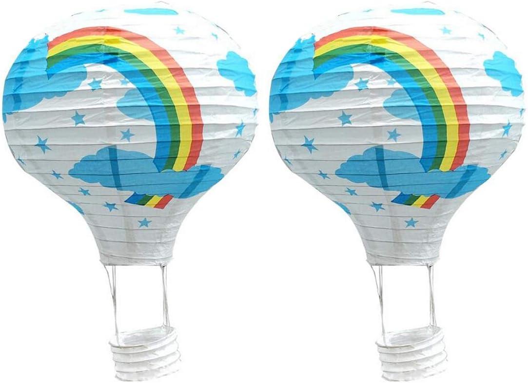 Amazon.com: Decoration Bedroom - 35cm Rainbow Printing Paper ...