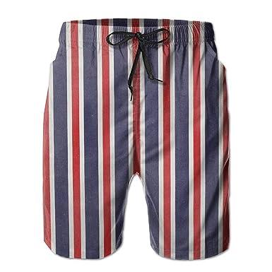 008f1f4344 Amazon.com: Rapend New Red White and Blue Striped Fabrics Men's Beach Pants, Shorts Beach Shorts Swim Trunks: Clothing