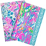 lilly pulitzer pocket notebook, sparkling sands (student),5-x-7.75-inch