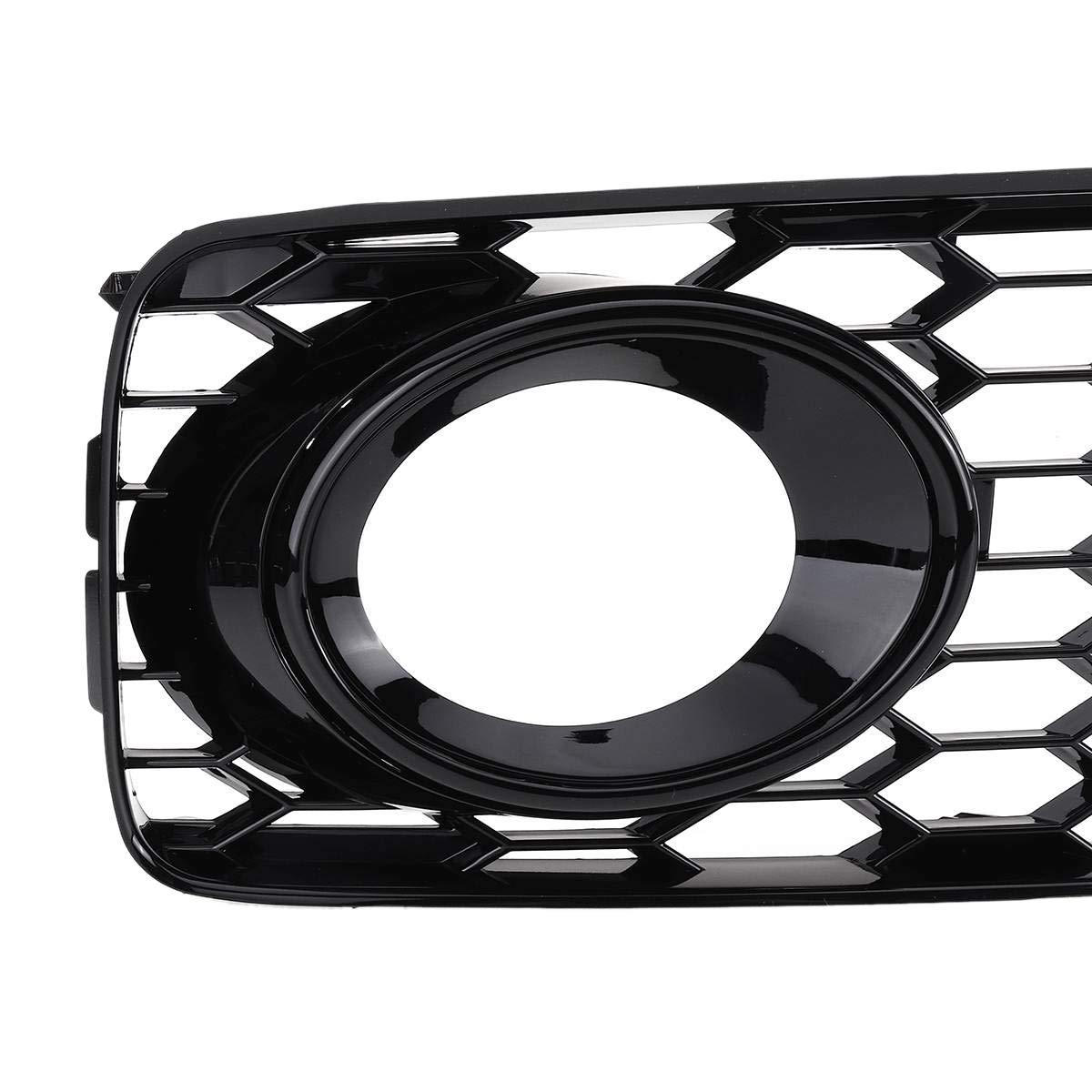 TOOGOO 1Pair Grille De Ventilation Avant Hexagonale De Grille Cellulaire De Projecteur Antibrouillard Avant De Voiture pour A5 Ligne S // S5 B8 Rs5 2008-2012 Chrome Argent