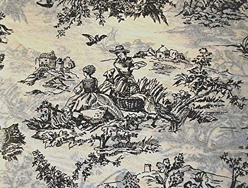 - 50 Sheets of Black French Toile on Light Tan Background Gift Wrapping Tissue Paper for Art DIY Crafts in Bulk # 321 Size 20