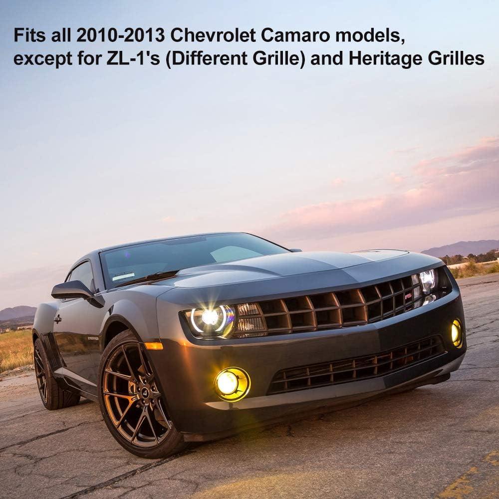 For Chevrolet Camaro /'16-/'17 Pair Set of 2 Black Fender Emblems Heritage Genuine