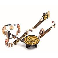 DJECO Zig & Go Wooden Domino Race Construction Set, 45 Pieces (35643)