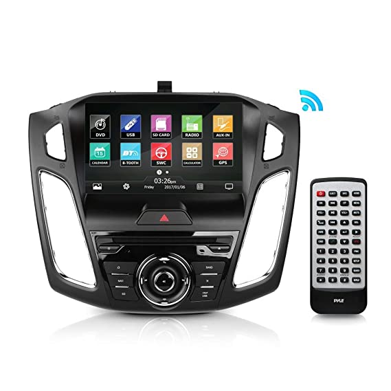 Ford Focus Receiver Car Stereo - Direct Fit 2015/2016 9'' HD Touchscreen,  Bluetooth Wireless, CD/DVD Player, AM/FM Radio, Single (NO GPS Card