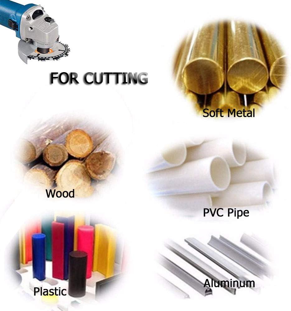 4 pulgadas SaferCCTV Disco de talla de madera,hoja de sierra de cadena para tallar madera,disco de cadena de amoladora de 4 pulgadas para amoladora angular 100//115,22 dientes,eje de 5//8 pulgadas