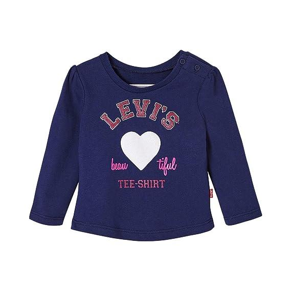 Levis Kids - Sudadera de deporte - para bebé niño 47 Marine 6 mes