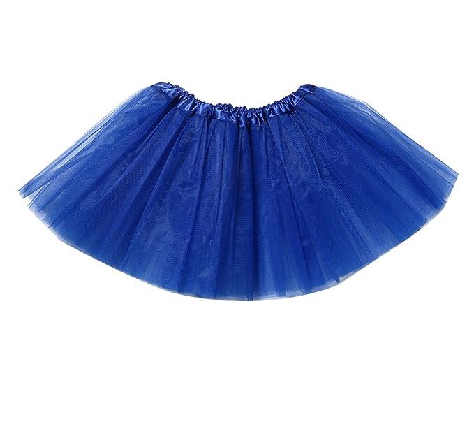 Niñas de capas de volantes Tulle ballet Tutú Ballet falda de tul clásica para fiesta Talla única Azul zafiro: Amazon.es: Ropa y accesorios