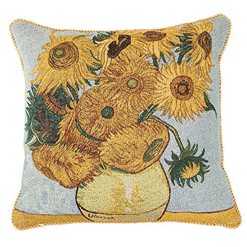 Bed Gogh Van (Signare Van Gogh Artist Tapestry Double Sided Square Throw Pillow Cover 18