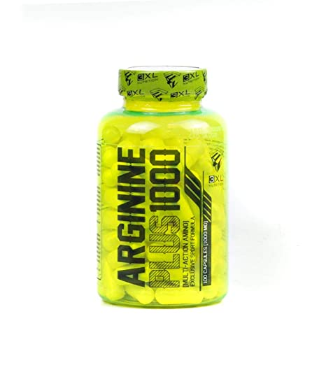 Arginine Plus 1000 - 100 caps 3XL Nutrition Arginina: Amazon ...