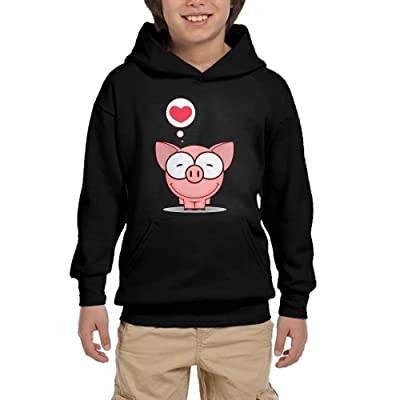 Cute Pig Lover Youth Pullover Hoodie Fashion Pocket Sweatsuit