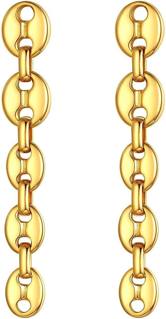 Gold-plated coffee seed earrings  Women/'s earrings  Woman gift