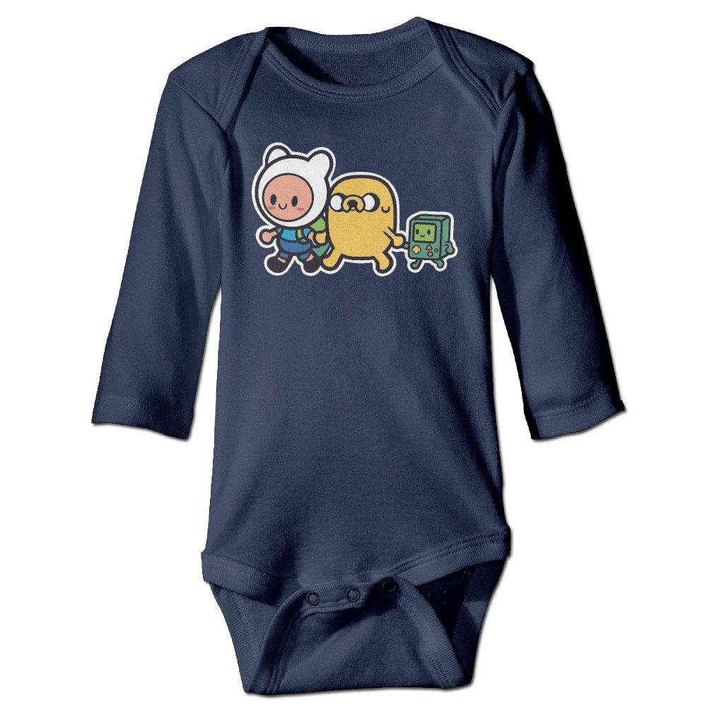 Infant Adventure Time Family Unisex Baby Onesie Bodysuit Long-sleeve