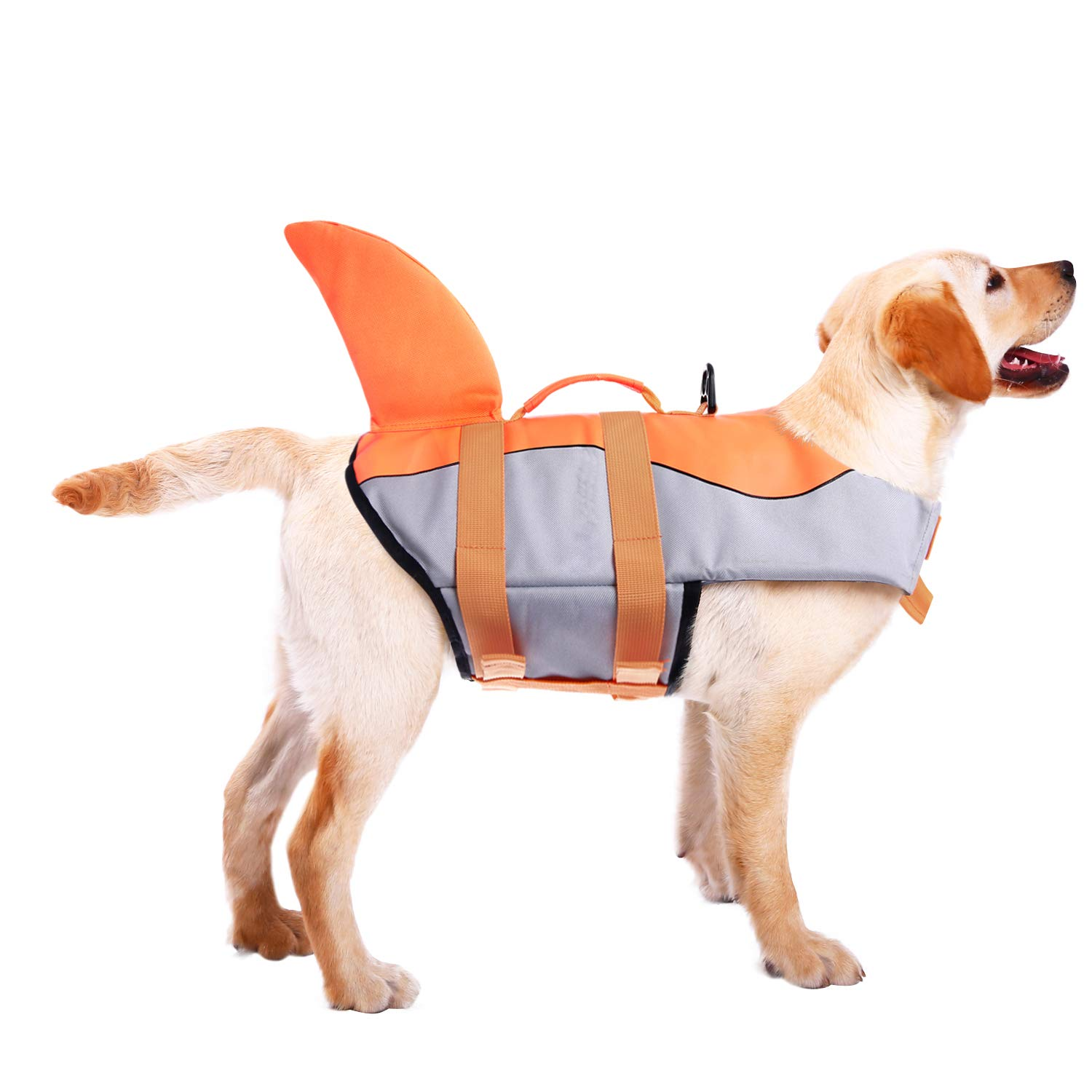 ASENKU Dog Life Jacket Ripstop Pet Floatation Vest Saver Swimsuit Preserver for Water Safety at The Pool, Beach, Boating by ASENKU