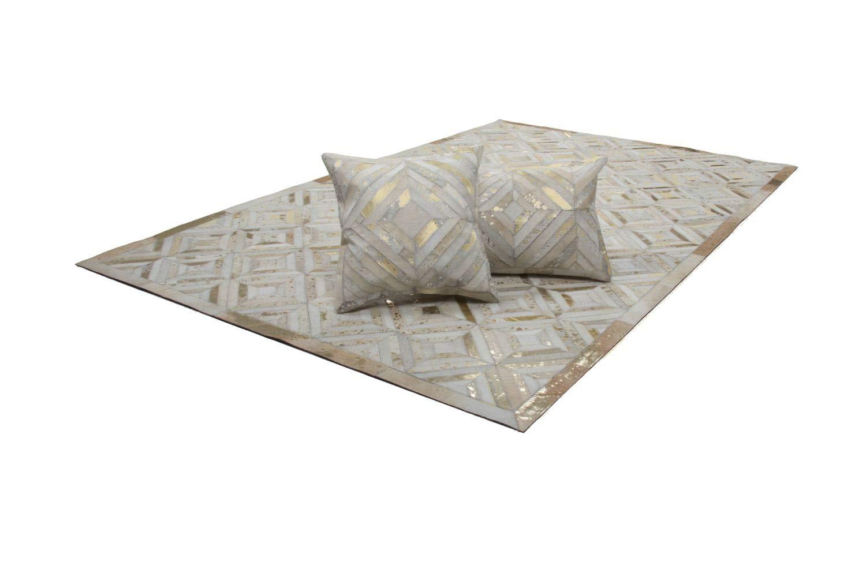 One Couture Teppich Leder Flachflor Modern Teppiche Handgefertigt Elfenbein Elfenbein Elfenbein Gold, Größe 160cm x 230cm B01MRR3TZ1 Teppiche fd5e25