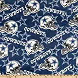 Fabric Traditions NFL Fleece Dallas Cowboys Toss Fabric by The Yard, Blue/White