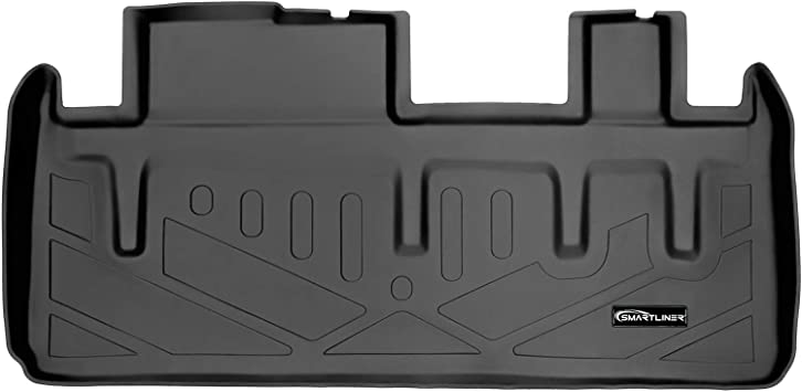 SMARTLINER All Weather Cargo Liner Floor Mat Behind 3rd Row Grey for 2011-2018 Toyota Sienna with Power Folding 3rd Row Seats