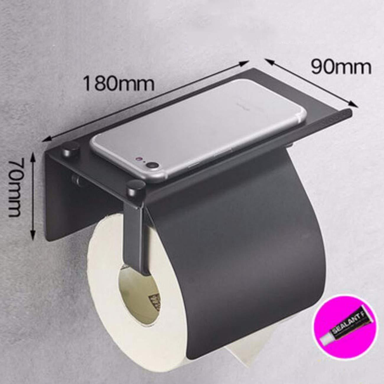 Paper Rack Perforation Nail-Free Copper Mobile Phone Rack Toilet Paper Rack Toilet Paper Towel Rack Carton N