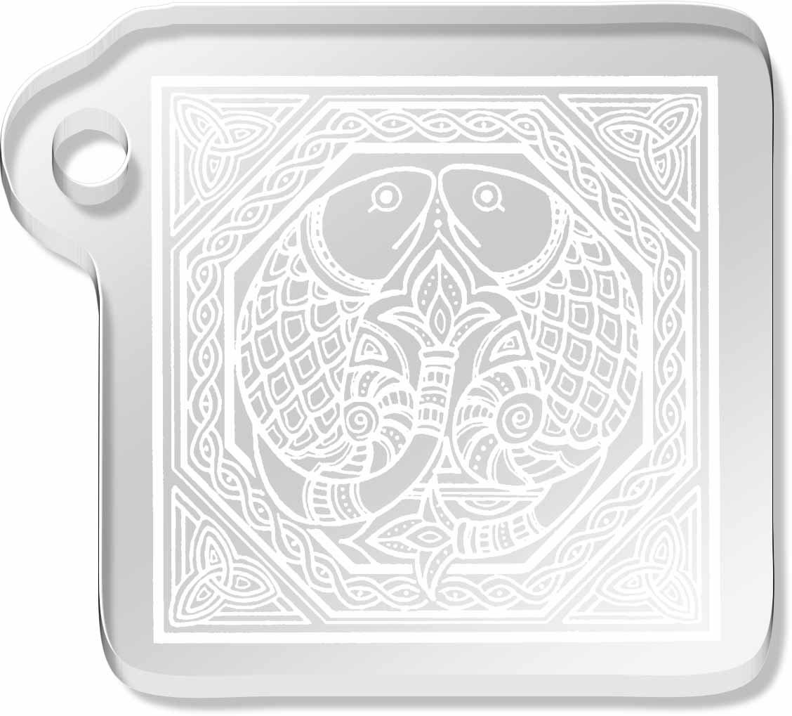 'Celtic Fish Motif' Shaped Engraved Keyring (AK00017729)