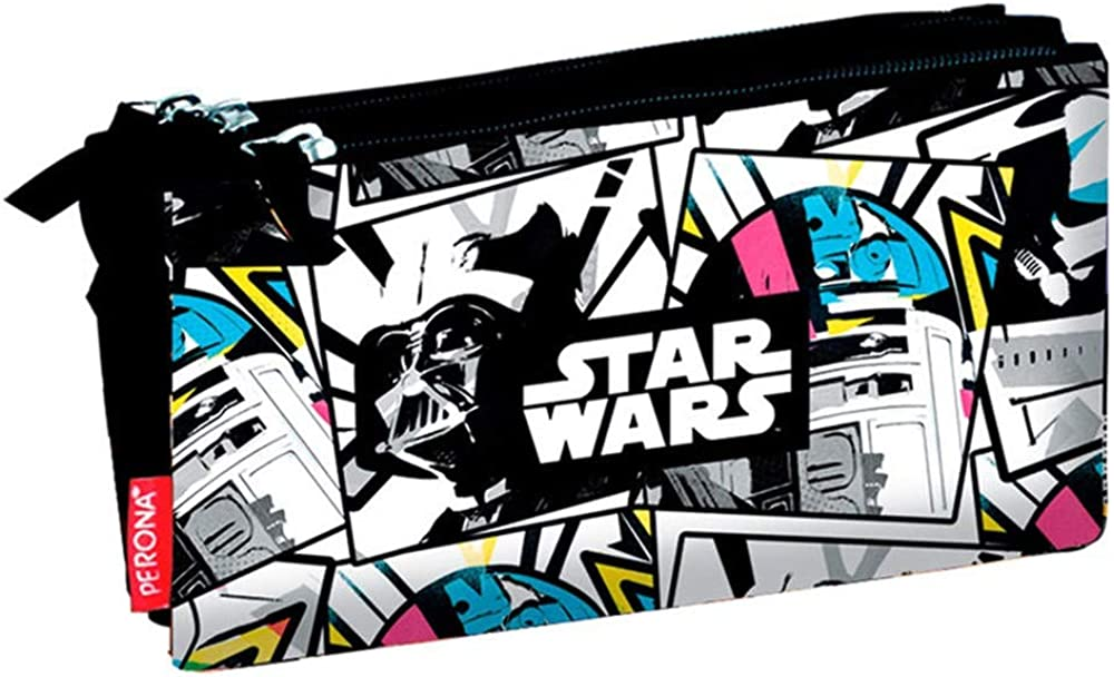 Disney Star Wars 55190, Estuche con tres compartimentos, multicolor: Amazon.es: Ropa y accesorios