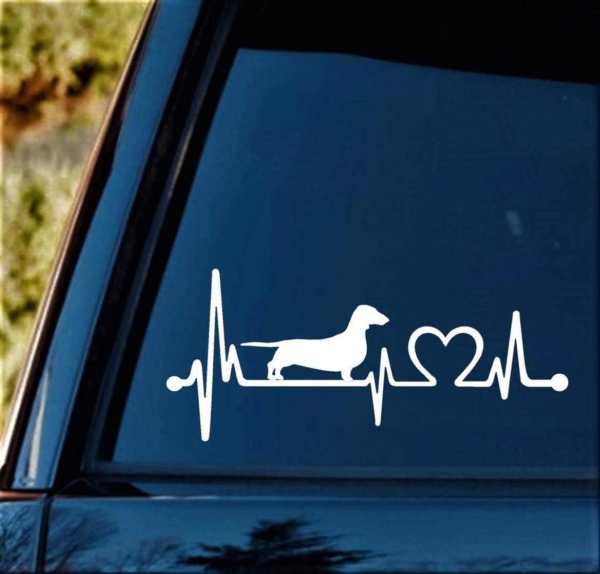 ebn1445 Decal Sticker Multiple Patterns /& Sizes Love Dachshund Dog Heart