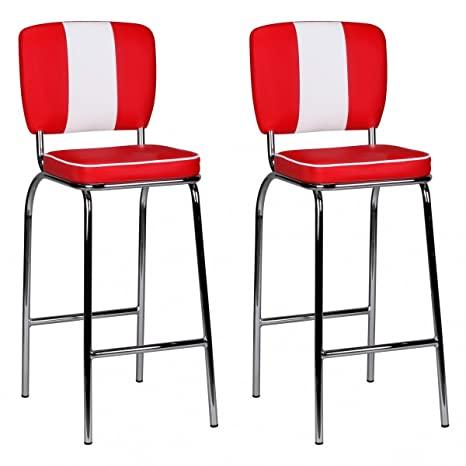 Wohnling Set di 2 sedie FineBuy TS in stile Diner Americano anni 50 ...