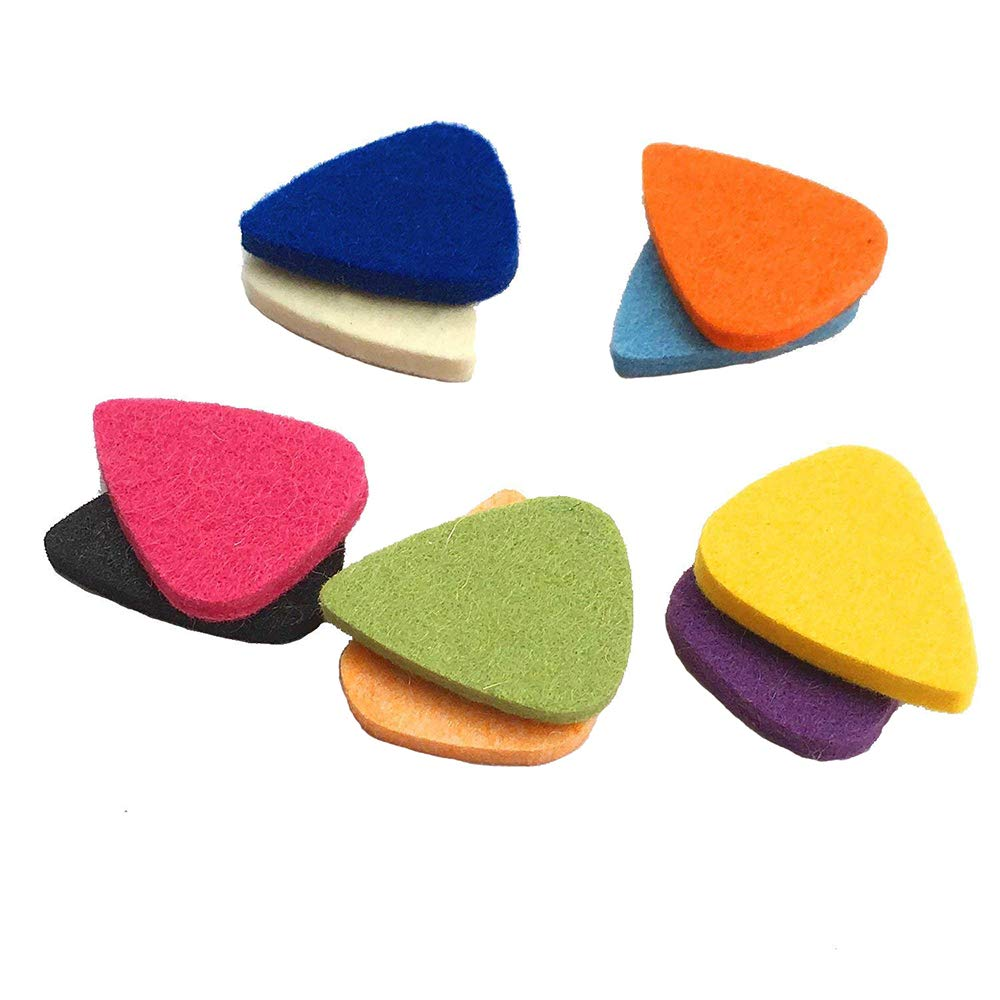 Felt Picks for Ukulele and Guitar, Fiber Ukulele Picks, Uke picks,Plectrums for Ukulele and Guitar (10, Black) Bravodeal