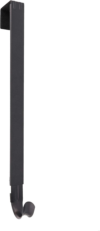 Haute Decor Adapt Adjustable Length Wreath Hanger - Matte Black - Holds up to 20 lbs.