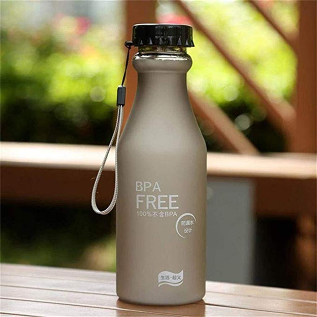 GROOMY Portable Camping Cup Bebidas Botella Pl/ástico Transparente Leche Helada Tetera