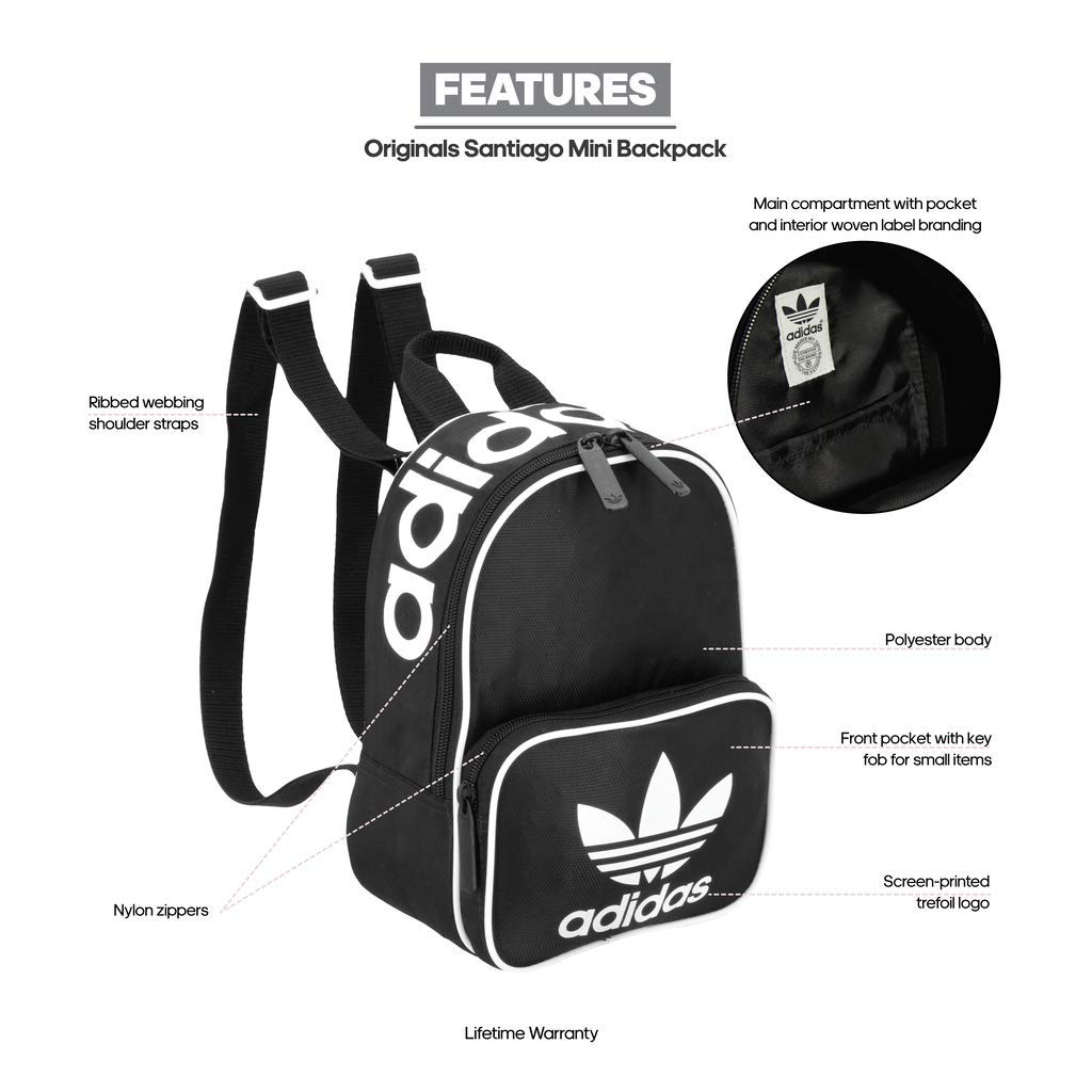 Amazon.com  adidas Originals Santiago Mini Backpack 8b1010d738519