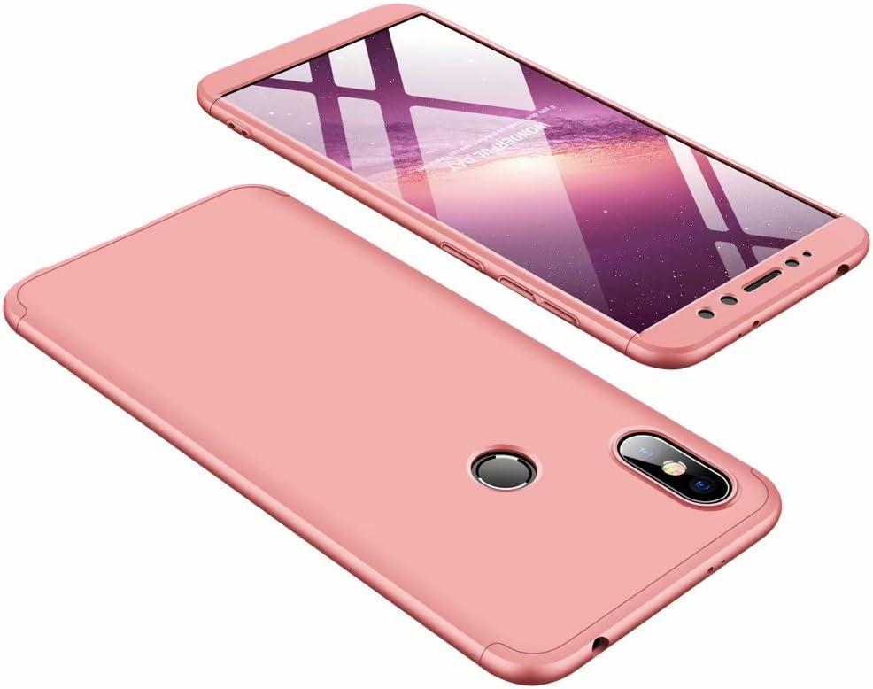 DESCHE compatibles con funda Xiaomi Redmi S2 Oro rosa, PC duro ...