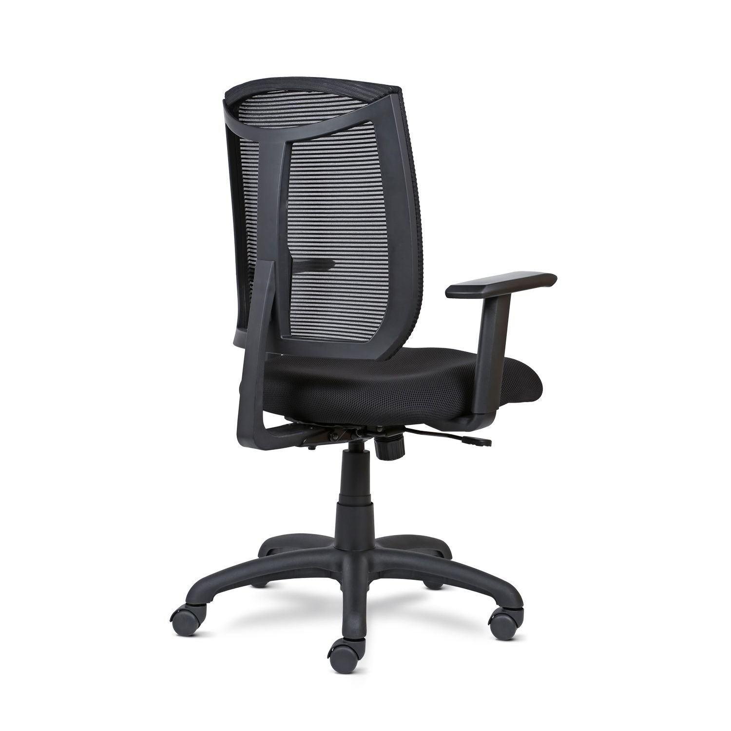 MIA Bria Swivel Tilt High-Back Desk Chair with Mesh Back, Black
