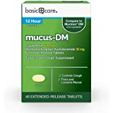 Basic Care Mucus DM, Guaifenesin and Dextromethorphan Hydrobromide Extended-Release Tablets, 600 mg/30 mg, 40 Count