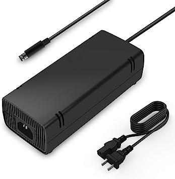 Xbox 360 E Fuente de alimentación Compatible con Xbox 360E Adaptador de alimentación, Cable de alimentación Adaptador de CA Cargador de Repuesto para Xbox 360 E, 100-240 V Auto Voltaje: Amazon.es: Electrónica