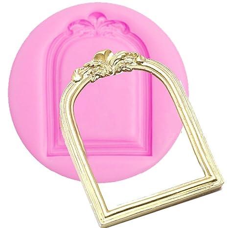 bakeart redondeadas Victorian espejo marco desplazamiento de filigrana Fondant y NY Cake alfombrilla de molde,
