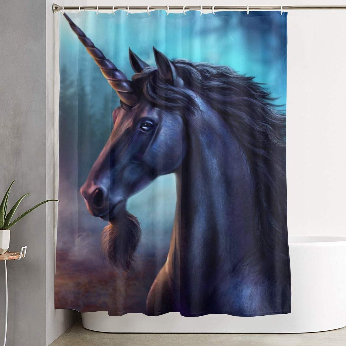 Horses Shower Curtain Waterproof Fabric Bathroom Decor 60x70inch Various Size