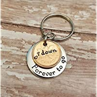 7th Anniversary Key Chain Seven Down & Forever To Go with a 2011 Copper Cent Penny
