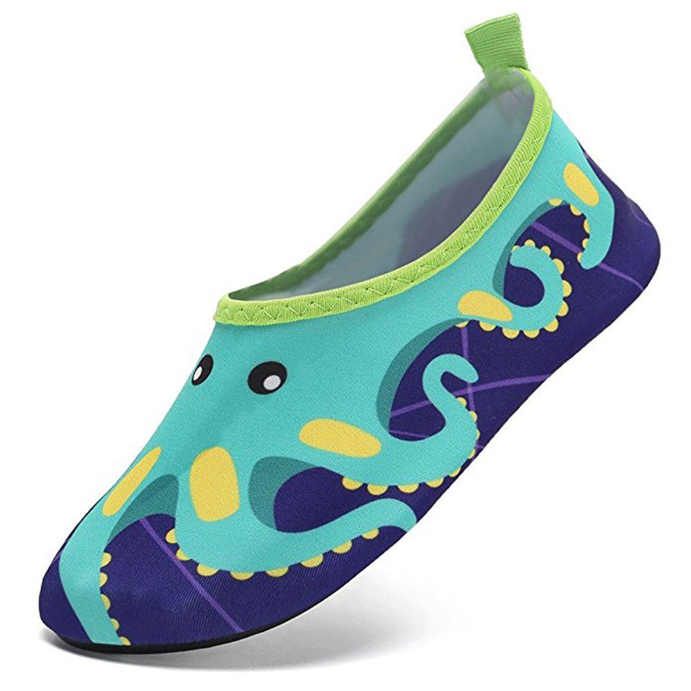 JACKSHIBO Kids Mutifunctional Barefoot Quick-Dry Water Shoes Lightweight Aqua Socks for Swim Beach Pool Surf Yoga Exercise