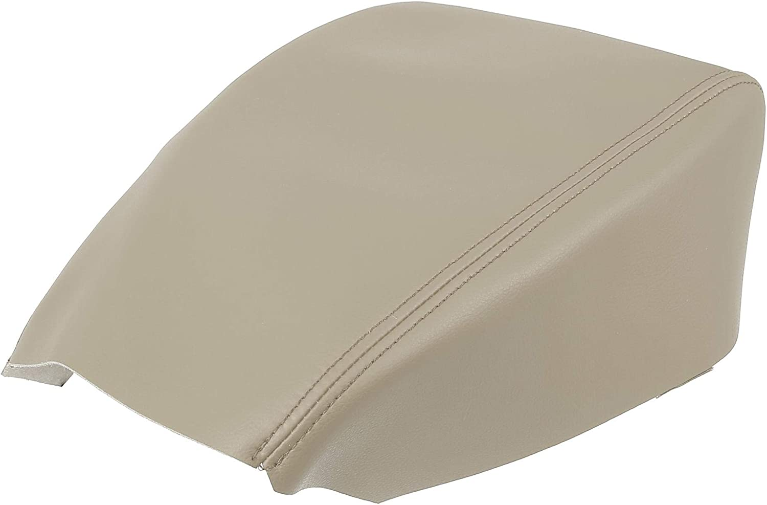 X AUTOHAUX Car Center Console Lid Armrest Pad Cover Protector Beige Microfiber Leather for Mazda CX5 2018-2020
