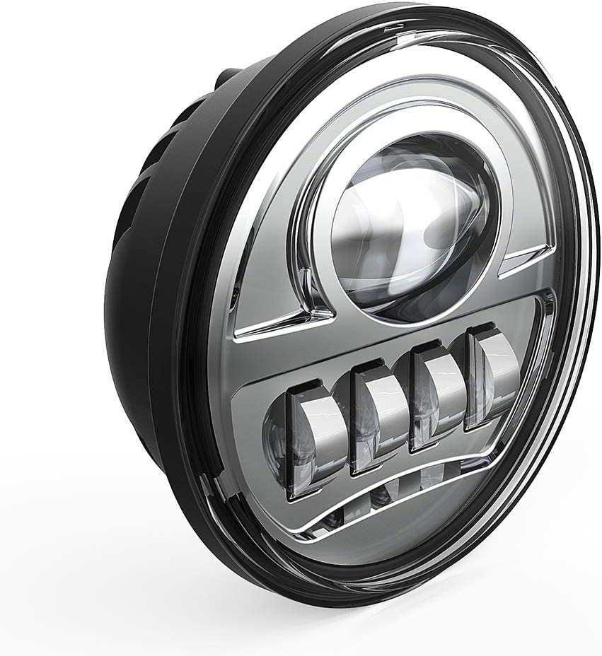BICYACO Motorcycle 4-1//2 4.5Inch LED Fog Lights for Harley Davidson Passing Light Projector Spot Driving Lamp 34W-Chrome