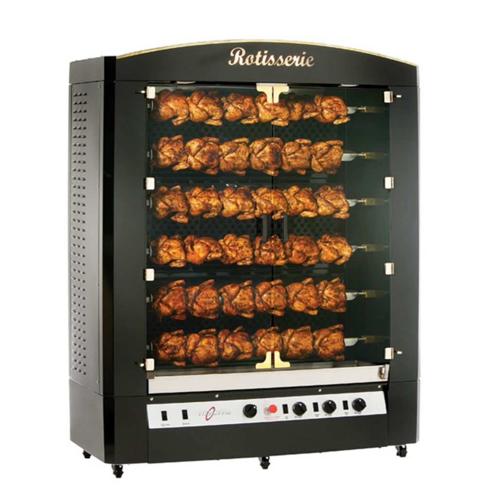 Burgundy Stainless Steel Gas Rotisserie