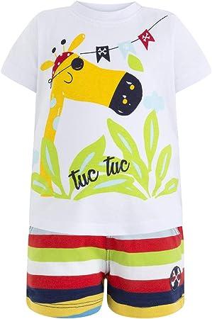 Bermuda: 100% Algodón; Camiseta: 100% Algodón,lavar a máquina - agua fría (30 ° max)