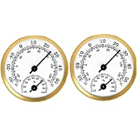 Degree Hygrometer Pointer Degree Humidity Meter for Car Greenhouse 2PCS Gold Garden Tool