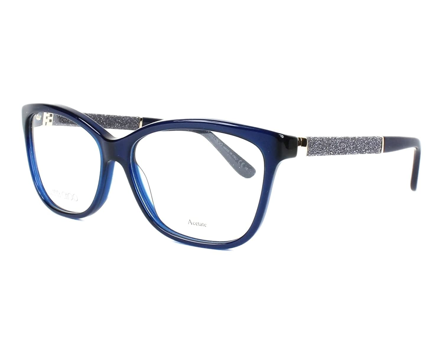 b821dcf25b61 Amazon.com  Jimmy Choo Plastic Rectangular Eyeglasses 55 0FA7 Blue Opal   Shoes