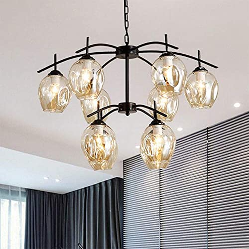 Modern Molecular Chandelier, 10 Lights E26 Nordic Magic Bean Ceiling Chandelier Light with Glass Lampshade, Pendent Lighting Fixtures for Living Dining Room Bedroom Restaurant Bar Bulbs Not Included